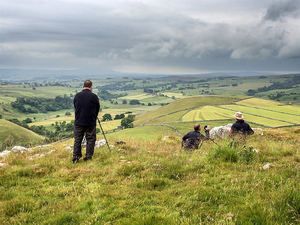 Enjoying the view at the top viewpoint - Malham Workshop July 2021