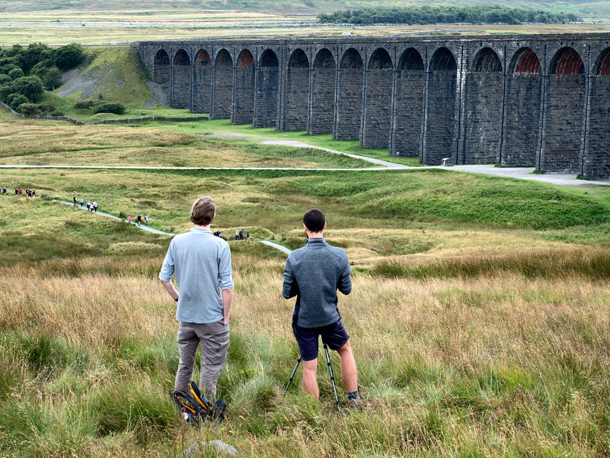 Photographing Ribblehead Viaduct